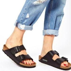 New Birkenstock Arizona Black Sandals 40